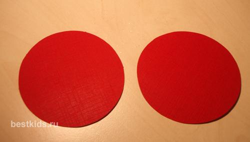 Два круга из картона